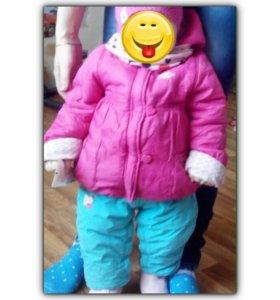 Верхняя одежда для девочки демисезон. От 6-12 мес