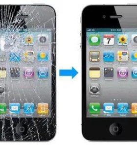 Переклейка стекла на Iphone