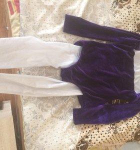Танцевальный костюм(купальник велюр.+лосины)
