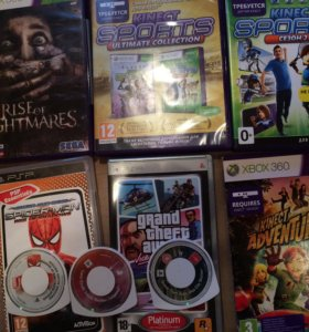 Игры на XBOX 360 и PSP
