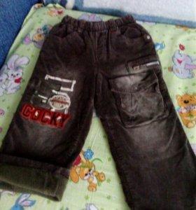 Вельветовые штаны,р-р98-104