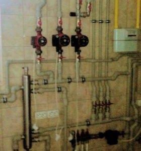 Отопление водород тёплый пол канализация