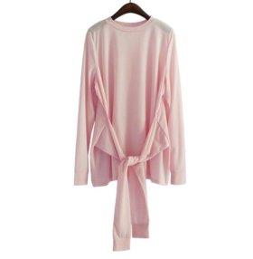 Блузка дизайнерская выбеленно- розовая, размер L
