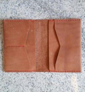 Обложка под паспорт и автодоки ручной прошивки