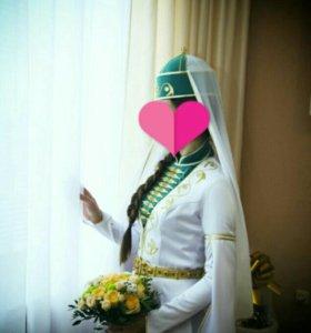 Свадебное национальное платье-сае