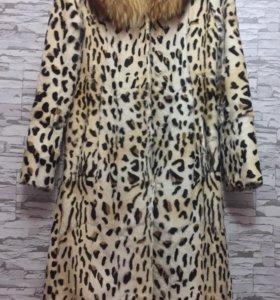 Шуба леопардовая