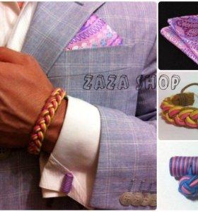 Набор: браслет, платок, запонки