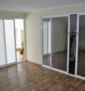 Раздвижные двери, перегородки, балконы.
