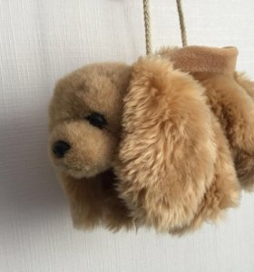 сумка-собака меховая для ребёнка