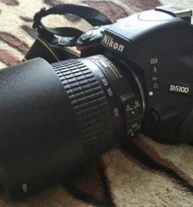 Nikon d5100 с обьективом 55-200
