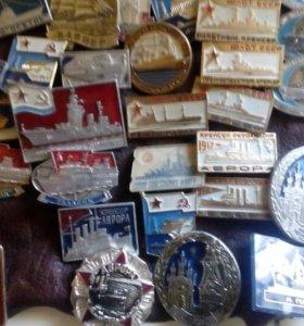Коллекция значков70-80годов