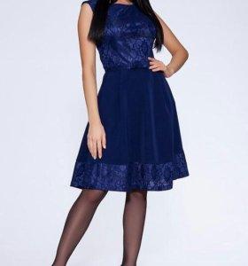 Новое синее платье