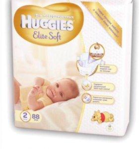 Подгузники Haggies Elite Soft