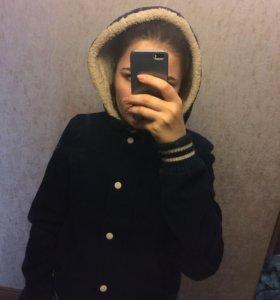 Утеплённый бомбер, куртка