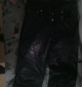 Штаны кожаные мужские