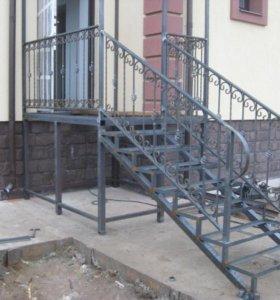 Перила решетки лестницы