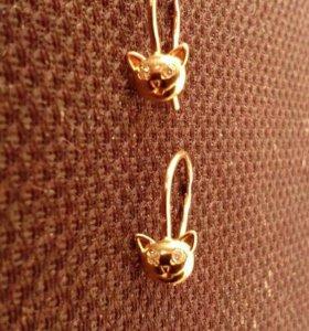 Детские золотые серёжки
