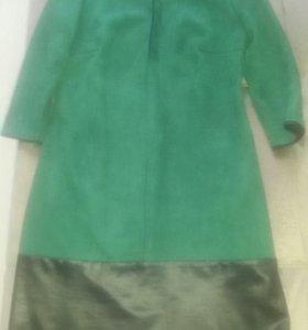 Платье замша и искусственная кожа
