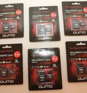 Карта памяти 8 Gb Micro SDНС 10 + адаптер SD