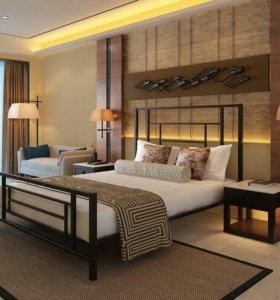 Металлическая двуспальная кровать Аккорд