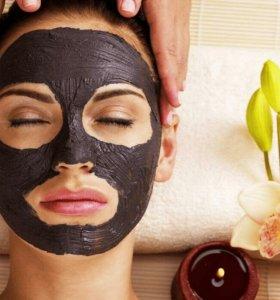 Черная маска для лица 3шт