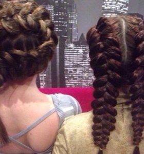 Плетение кос , прически
