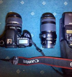 Фотоаппарат Canon 40D с оптикой и вспышкой