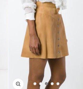 Кожаная юбка muubaa