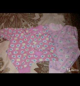 Пижамы на девочку(новые)