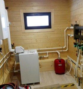 Монтаж отопления, водоснабжения, инженерных сетей.