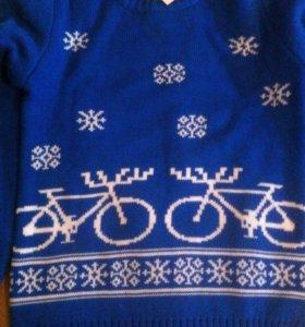 Свитер с велосипедами