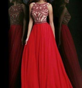 Длинное  вечернее платье для светского торжества