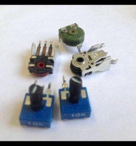 Резисторы, переменные