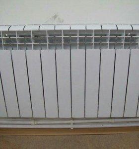 Установка радиаторов отопления !