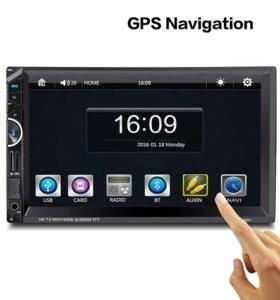 Магнитола GPS,Bluetooth,сенсор.