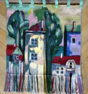 Гобелен, ручное ткачество, Старый город