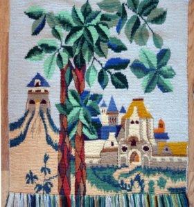 Гобелен, ручное ткачество, Старинный город