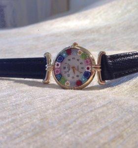 Муранское стекло. Часы. Италия.