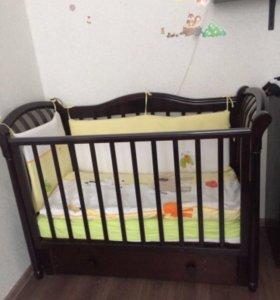 Кроватка детская лель маргаритка