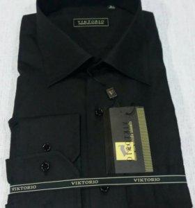 Рубашки мужские черные Victorio