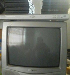 Телевизор и двд