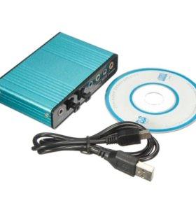 Внешняя Звуковая Карта USB 6 6-канальный 5.1 Аудио