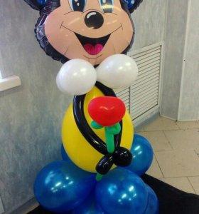 Композиция из шариков Минни-