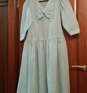 Нарядное платье бирюза 44 46 48