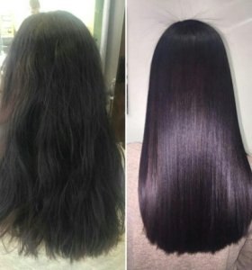 Кератиновое выпрямение волос