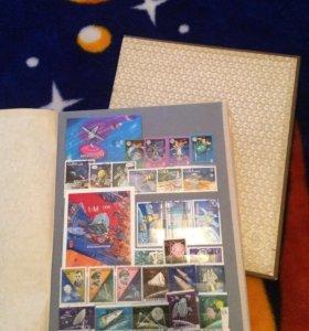 Коллекционные почтовые марки (космос)
