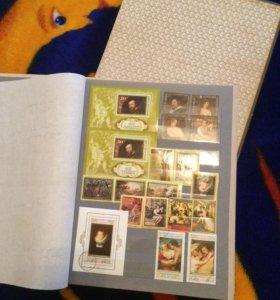 Коллекционные почтовые марки(живопись)