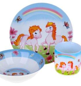 Детские наборы посуды в ассортименте