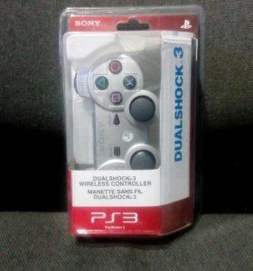Джойстик серебристый на PS3