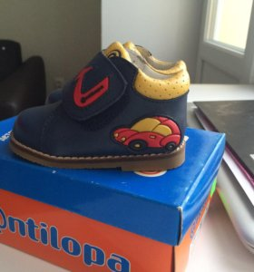 Кожаные ботинки Антилопа